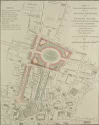 A Plan of PROPOSED IMPROVEMENTS between THE ROYAL EXCHANGE AND FINSBURY SQUARE